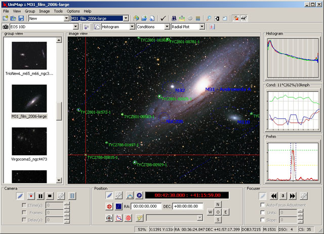 UniMap - astrophotography software